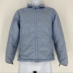 The North Face Woman Baby Blue Winter Puffer Coat